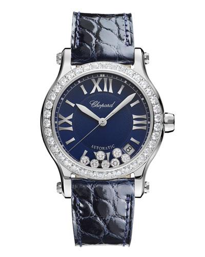 36 mm Happy Sport Automatic Watch with Diamonds