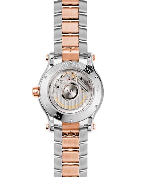 Chopard 36mm Happy Sport Two-Tone Watch with Diamonds