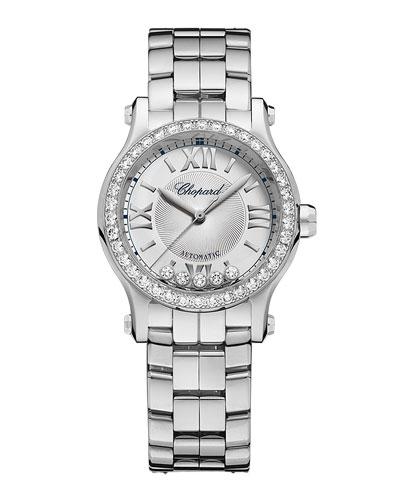 30mm Happy Sport Mini Watch with Diamonds