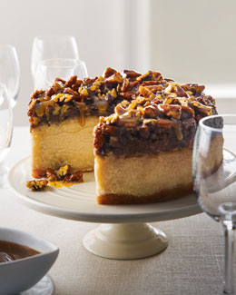 South-of-the-Border Pecan Praline Cheesecake