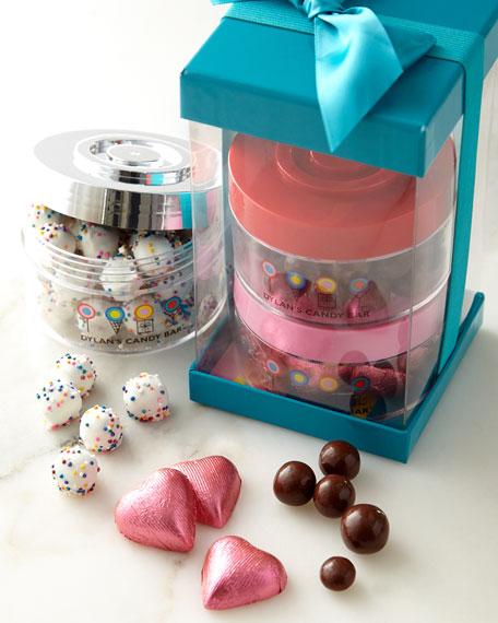 Dylan's Candy Bar Valentine's Day Stack Around Jar