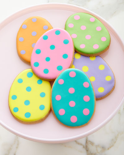 6 Easter Decorated Cookies
