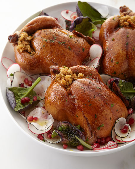 Stuffed Cornish Hens, For 4-6 People