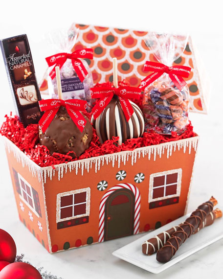 Mrs. Prindable's Gingerbread House with Caramel Apples and