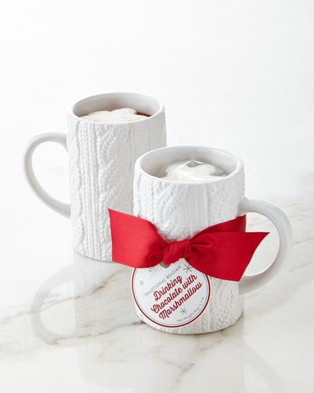 Saxon Chocolates Cable-Knit Mug Gift Set