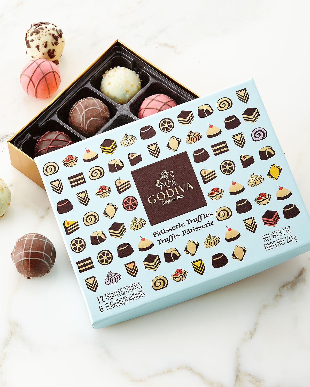 Godiva Chocolatier 12-Piece Patisserie Truffle Box Neiman Marcus