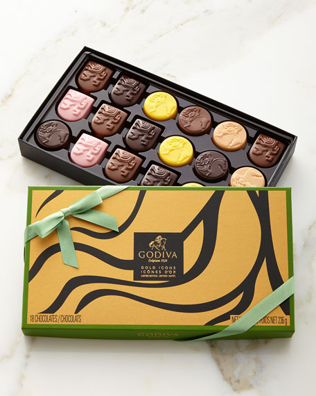 Limited Edition Gold Icons Chocolates, 18 piece