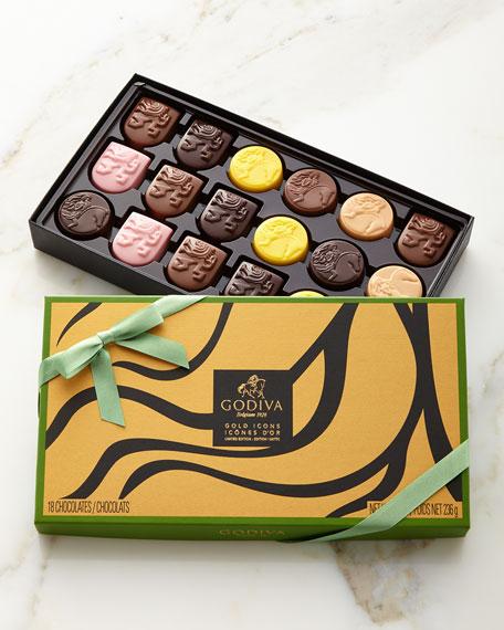 Godiva Chocolatier Limited Edition Gold Icons Chocolates, 18