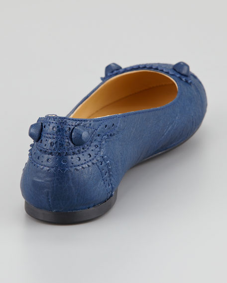 Arena Brogue Perforated Ballerina Flat