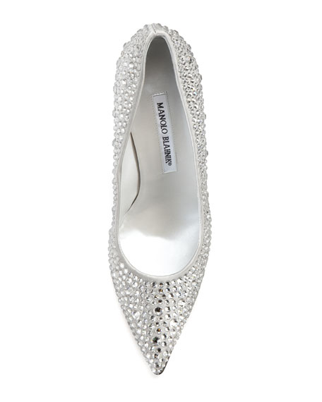 manolo blahnik crystal shoes
