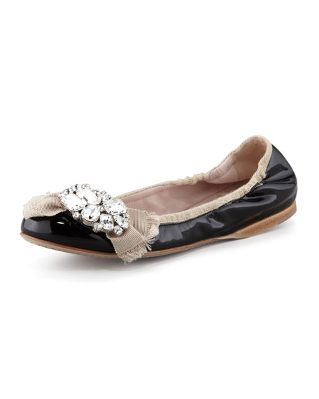 Patent Grosgrain Ballet Flat