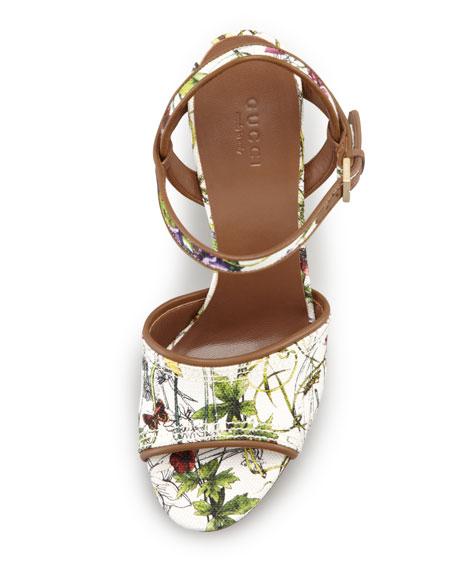 Danielle Flora Canvas Clog Platform Sandal