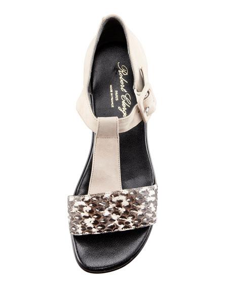 Pepos T-Strap Flatform Sandal