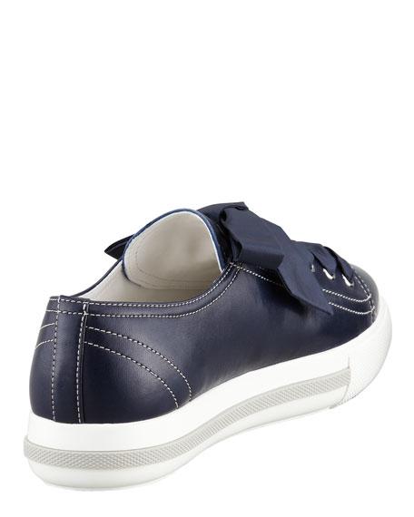 Cap-Toe Leather Sneaker, Blue