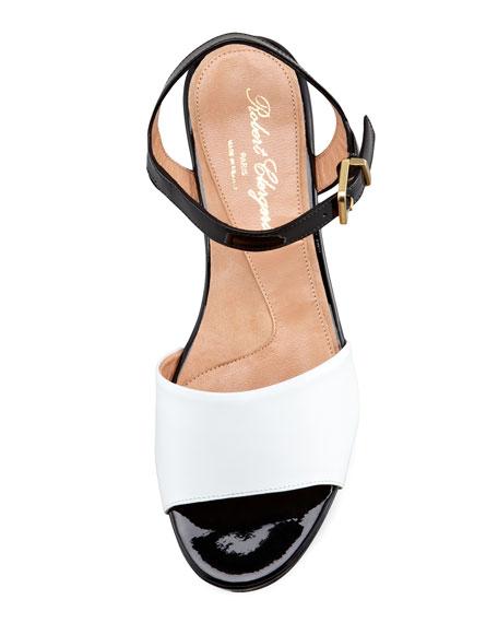 Ekora Colorblock Patent Flatform Sandal