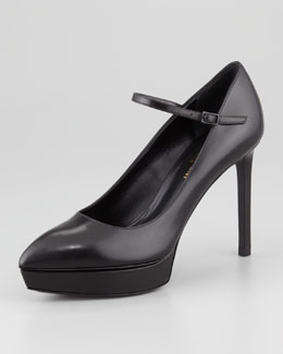Saint Laurent Janis Mary Jane Platform Pump