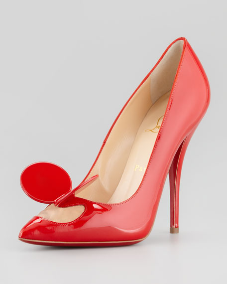 Madame Mouse High-Heel Patent Pump