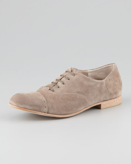 Suede Lace-Up Brogue