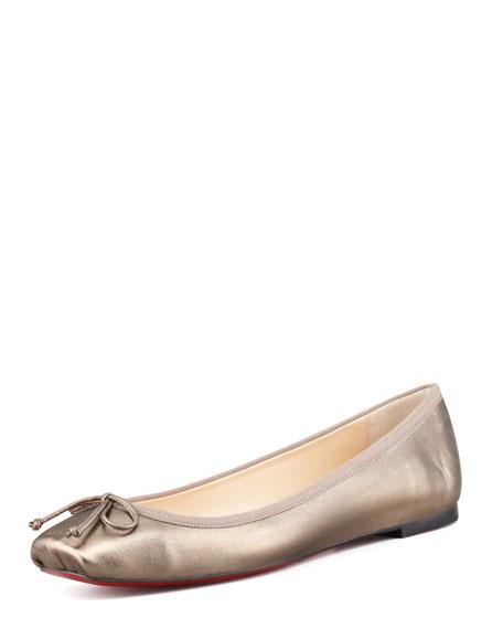 Rosella Square-Toe Ballerina Flat, Bronze