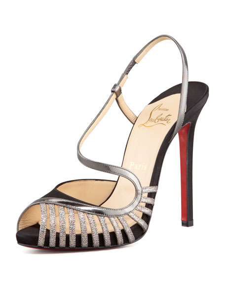 Scoubridou Asymmetric Mixed-Media Sandal