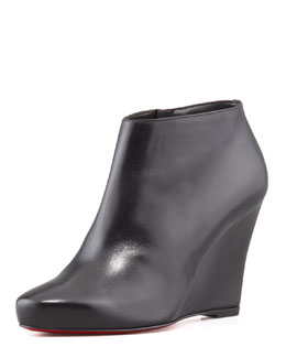 Christian Louboutin Melisa Leather Wedge Bootie