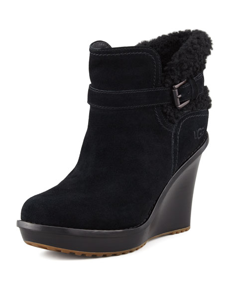 Anais  Wedge Boot, Black
