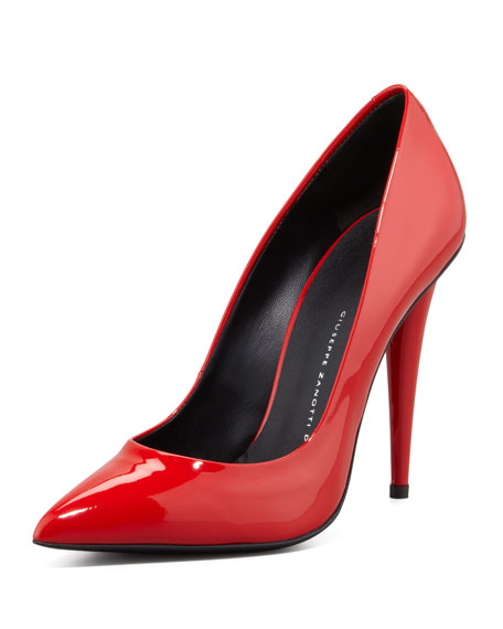 Ester Patent Leather Pump, Red