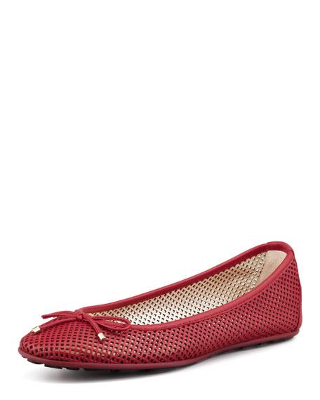 Walsh Lattice Ballerina Flat, Red