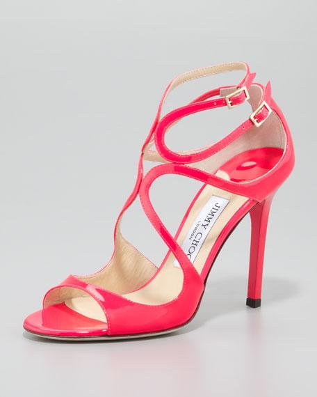 Lang Patent Strappy Sandal, Pink