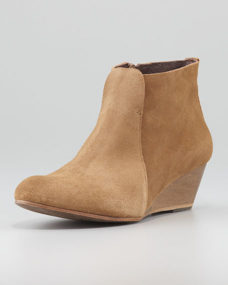 Kennedy Suede Wedge Bootie, Brown