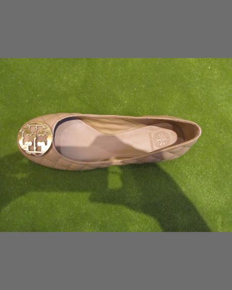 Quinn Quilted Ballerina Flat, Beige