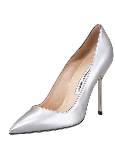 BB Metallic Patent 115mm Pump, Silver