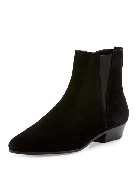 Patsha Suede 30mm Booties, Black by Isabel Marant