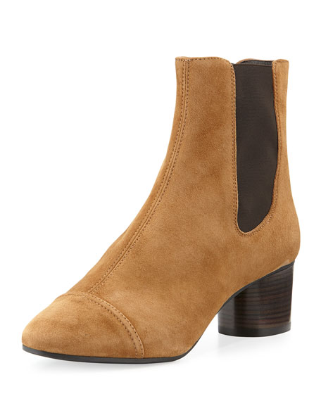 Isabel Marant Danae Suede 50mm Chelsea Boot, Brown