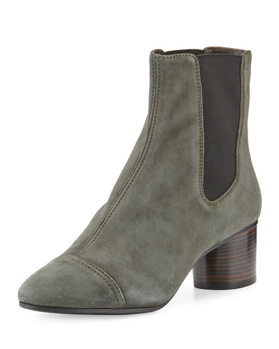 Danae Suede 50mm Chelsea Boot, Anthracite