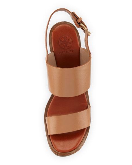 8878726ababdef Tory Burch Lexington Leather Wedge Sandal