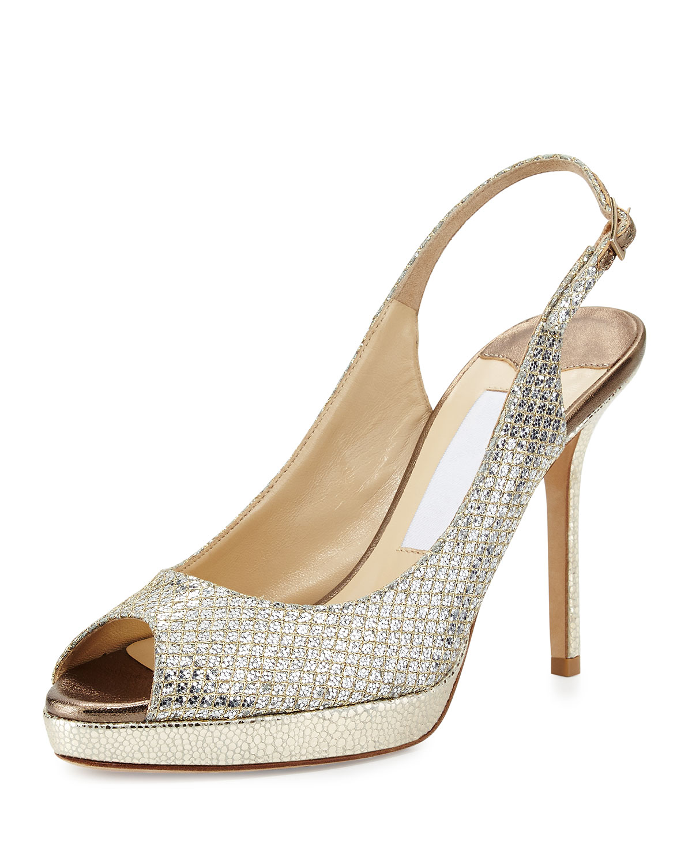 ef7f54fe8f0 Jimmy Choo Nova Glitter Platform Slingback Sandal
