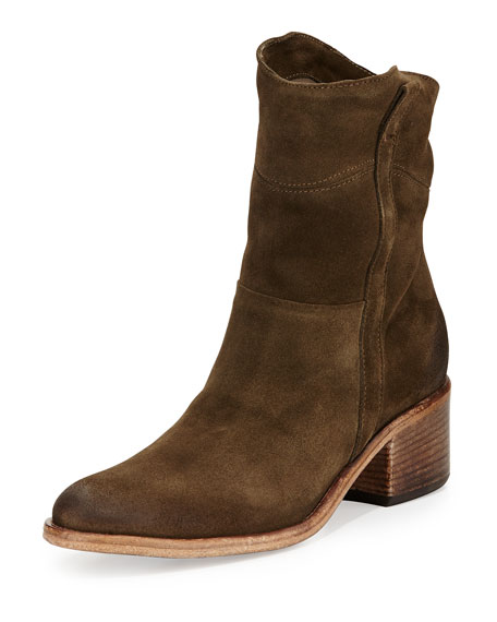 Martana Suede Ankle boot, Bosco