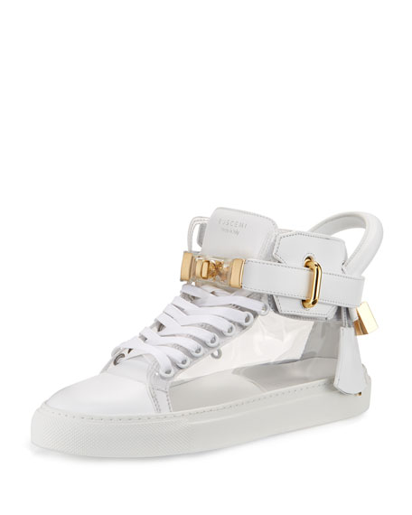 Buscemi Women's 100mm Turn-Lock High-Top Sneaker