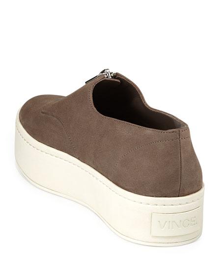 Warner Zip-Front Platform Sneaker