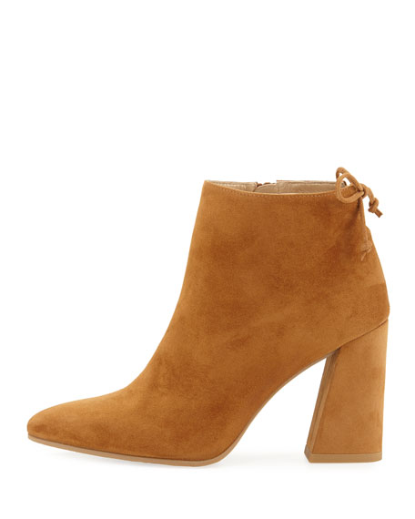 Grandiose Suede Pointed-Toe Bootie, Camel