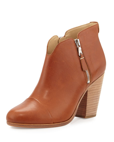 Rag & Bone Margot Side-Zip Ankle Boot, Tan
