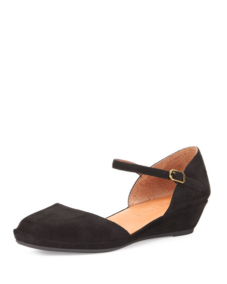 Gentle Souls Noa Star Demi-Wedge Ballerina Flat, Black