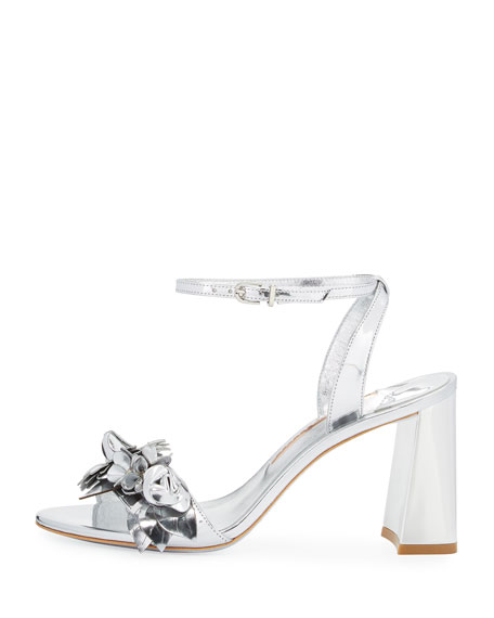 Lilico Floral Leather 85mm Sandal