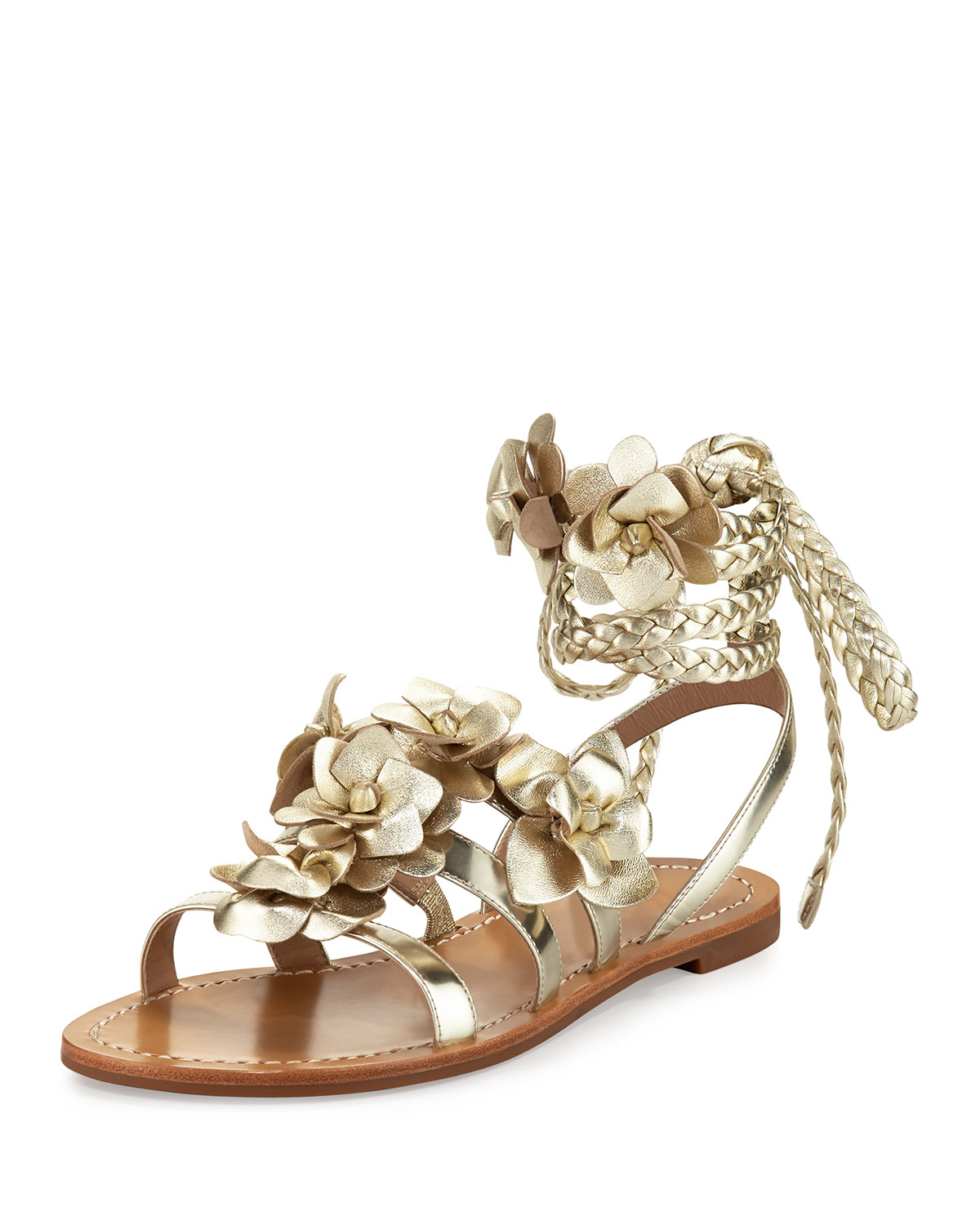 6fd8e740b07a4 Tory Burch Blossom Leather Gladiator Sandal