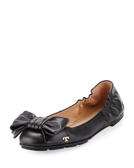 cheap price from china free shipping real Tory Burch Leather Bow Flats r8Wgehdfok