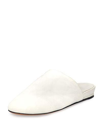 cdf0aa69c Vince Oren 2 Leather Mule Flat, White