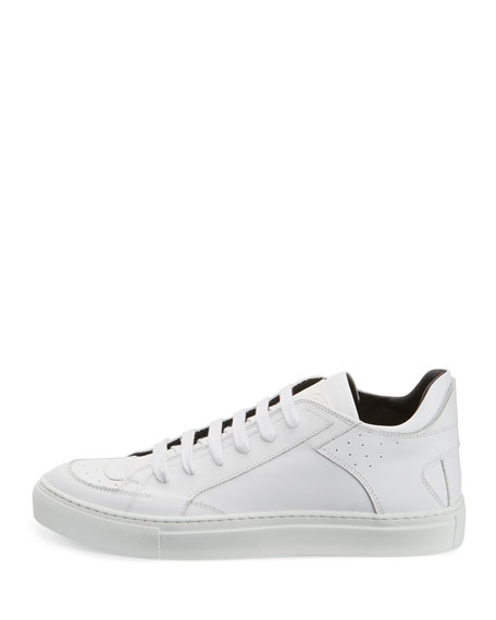 Classic Leather Low-Top Sneaker, White