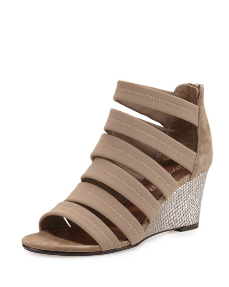 Donald J Pliner Jones Strappy Wedge Sandal, Beige