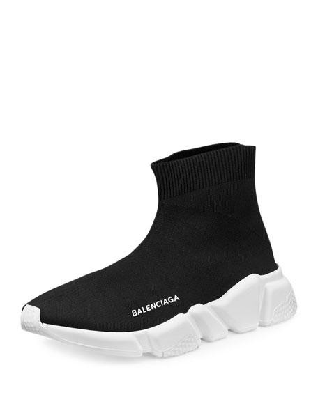 Balenciaga Stretch Mesh High Top Sneaker Noir Neiman Marcus